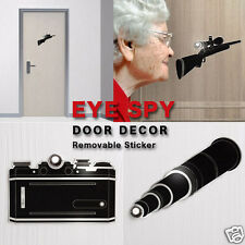 Eye Spy Removable Sticker Door Spy Hole Decor Home Gift Peleg Design
