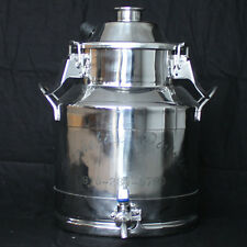 "Stainless Steel Milk Can Still Boiler/Brew Pot - 3 Gallon/2"" Opening"