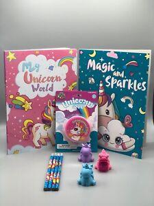 10 Pc. Unicorn Fun Bundle - Coloring Books, Poo & More for Homeschool Activities