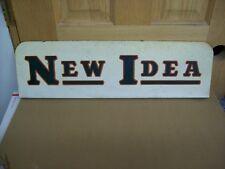 Vintage Original New Idea Farm Implement Equipment Display Sign