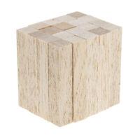 Unbemalt Unvollendete Holz Stäbe Bastelstäbe rechteckig Holzstücke Holz