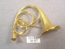 18Ktgp Designer Dolphin Ore Vintage Instrument Pin Brooch #027