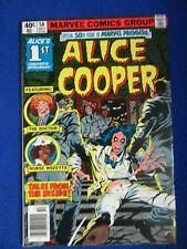 ~~  ALICE COOPER  1ST COMIC BOOK APPEARANCE ~ 1979 MARVEL COMICS ~~