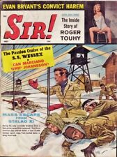 Sir! Magazine May 1960 Nazi Escape Hitler Stalag XI illus Pulp Cover Stag Pinups