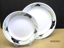 "CORNING  ""BLACK ORCHID""  6 BREAD & BUTTER PLATES & 6 SALAD PLATES OVER $200 VALU"