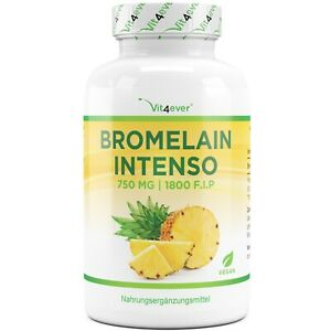 Bromelain Intenso - 120 Kapseln (vegan) a 750mg  (1800 F.I.P) - Ananas-Extrakt