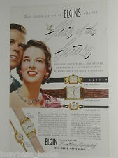 1950 Elgin Watch ad, Lord, Lady & DeLuxe models