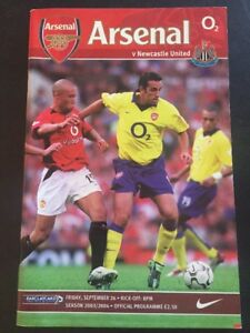 "Arsenal ""49 Unbeaten"" Home V Newcastle United 26/09/2003 Game 9 Invincibles"