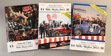 Mille 1000 Miglia Auto & Città Collection 2012/2014 3 Libri. AUTOMOBILIA rallye