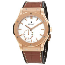 Hublot Classic Fusion Ultra-Thin Silver Dial Hand Wind Mens Watch 515.OX.2210.LR