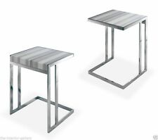 Modern Coffee Table - Marble Top Coffee Table - End Table - Pollenza White Lines