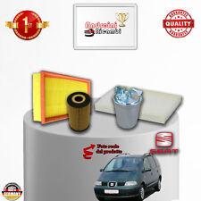 Kit Inspección 4 Filtros Seat Alhambra 1.9Tdi 85KW 115CV de 2003 - >2010
