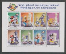 More details for azerbaijan - 1998, world rapid chess, disney mickey mouse sheet - mnh - sg 440/8