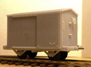 Hon3 D&RGW Billmeyer and Smalls Box Car 14' Link and Pin Coupler
