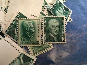 HUGE LOT 1968 Thomas Jefferson Andrew Jackson One-Cent Stamps Unused US Postage