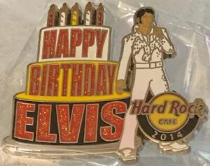Hard Rock Cafe ONLINE 2014 Elvis Presley Happy Birthday Cake PIN LE 200! #77123