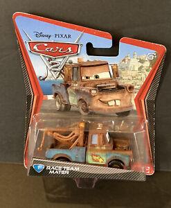 MATTEL Disney Pixar Cars 2 Race Team Mater Tow Mater Diecast Truck
