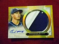 Brendan McKay RC 2020 Topps Five Star  Auto Jumbo Patch Rookie SSSP 1/10 AJP-BMC