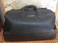 Leather DOCTOR's BAG GRIPSACK Black TOP GRAIN COWHIDE Dr. JC Kunzman SCHELL VTG