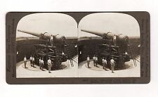 Keystone World War I stereoview Coast Defense Gun Elevated For Firing