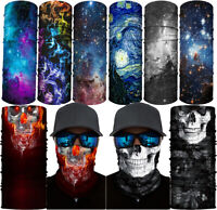 3D Skull Bandana Scarf Head Neck Face Cover Shield Motorcycle Balaclava Headband