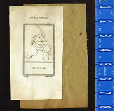 HUNLADE (Hungary) & GERMANICUS (Rome) - RARE 1809 Copper Plate Portrait Prints