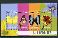 Ghana 2015 MNH Butterflies 4v M/S II Insects Sulphur Lacewing Morpho Butterfly