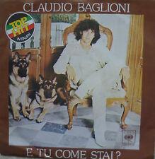 """7"""" 1978 ITALY VG + +! Claudio Baglioni: e tu come stal"""