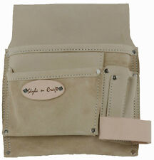Style n Craft 92826 - 5 Pocket Nail & Tool Pouch in Top Grain Leather