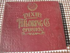 DIXIE TAILORING DISPLAY BOOK CHICAGO SUITS 1907 W/  MCLAUGHLIN'S COFFEE CARDS