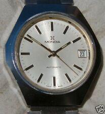 orologio MONDIA AUTOMATICO anni 70 in acciaio con movimento ZENITH