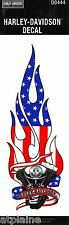 AUTHENTIQUE STICKER HARLEY DAVIDSON ENGINE US FLAME GM