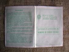 Ministero delle finanze attribuzione del codice fiscale