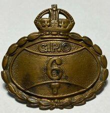 SUPERB ORIGINAL GPO POST OFFICE UNIFORM BADGE - NO 6 POSTMAN BADGE - KINGS CROWN