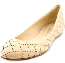 NEW Delman Cache 8.5 Nude Ballet Shoe Flat Low Built In Heel Patent Leather $398