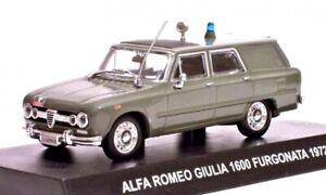 Alfa Romeo Giulia 1600 Furgonata 1972 Carabinieri 1:43 auto di metallo Agostini