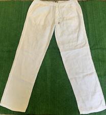Authentic Vilebrequin 100% Linen Pants for Men White XL Retail $260