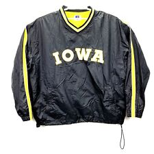Vintage Russell Athletic Iowa Hawkeyes Mens Pullover Lined Windbreaker Size 2XL