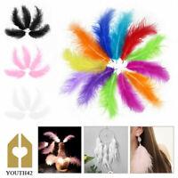 200 x Large Fluffy Marabou Feathers 12-15cm Card Making Crafts Embellishments UK