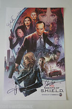 SDCC Comic Con 2015 Agents of S.H.I.E.L.D. Cast Signed Poster Clark Gregg +9
