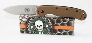 BRK Designed by ESEE Avispa Knife Coyote Brown Handle D2 Steel Blade BRK1302CB