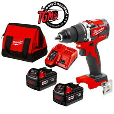 "Milwaukee 18V Gen 3 Compact Brushless 1/2"" Driver Drill Combo Kit M18CBLDD-302C"