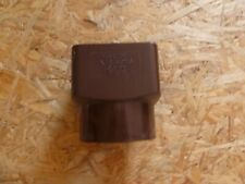 Marley Guttering Down Pipe SQUARE TO ROUND Connector (BROWN) RLE2