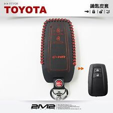 Leather Key fob Holder Case Chain Cover KEY RING FIT For 2017 TOYOTA CHR TO12-16