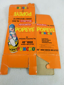 Vintage 1976 Coleco Popeye Puncho punching bag (original box only)