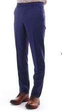 Paul Smith Mens Slim Fit 100% Wool Formal / Suit Trousers Blue W36 BNWT New