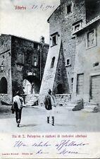 VITERBO: Via S. Pellegrino e costumi di contadini - Viaggiata 1902