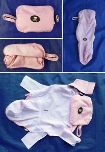 "FabDog ""Pack-away Raincoat "" Pink Size L 100% Goes to No-Kill Animal Rescue NEW"