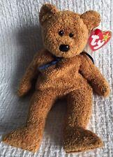RETIRED Ty Beanie Babies FUZZ Bear - with ERRORS