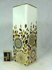 Rich decorated 70´s design Hutschenreuther Porzellan porcelain vase 177 / 25 cm
